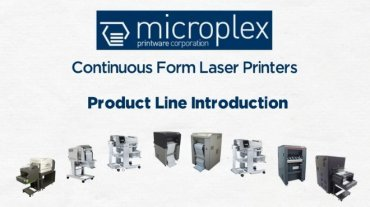 Microplex perfect for Barcode labels, Pick lists/production documents, logistic documents, upgrade from matrix to laser.
