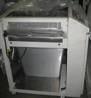 Roll Systems C8 Cutter Model 50317601 is a servo-driven, guillotine module to convert RSC8 web paper into precisely cut and trimmed sheets